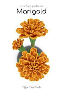 marigolds in garden A Crochet pattern for a Marigold Flower. This delicate blossom is a popular decor flower and a beautiful choice for pot flowers and arrangements. This crochet fl Marigold Flower, Hibiscus Flowers, Flower Pots, Lotus Flower, Marigolds In Garden, Growing Marigolds, Crochet Flower Patterns, Crochet Flowers, Crochet Small Flower