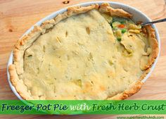 Freezer Pot Pie Reci