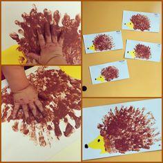 Riccio dipinto con le mani - Porcupine with handpainting