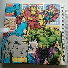 Work in progress of a special order for a Marvel DC Guest book. This is the back cover with characters chosen by the customer 😍 #Guestbook #Geek #marvel #craftyjujudesigns #DC #personalised #specialorder #craftyjujusweddingtreats #unique #comicbook #etsy