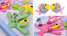 """Купить Развивающая книжка """"Море"""" - развивающая игрушка, развивающая книжка, развивайка, мягкая книжка"""