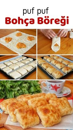 Soft Roll Pastry (with Potato) (with video) - Yummy Recipes - How to make Yummy Bohça Pastry (with Potato) (video) Recipe? Yummy Recipes, Lunch Recipes, Pasta Recipes, Cooking Recipes, Yummy Food, Potato Recipes, Turkish Recipes, Ethnic Recipes, Strawberry Sauce