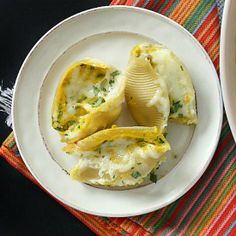 Stuffed shells never tasted so good. Roasted butternut squash, ricotta & spinach are stuffed into large shells.