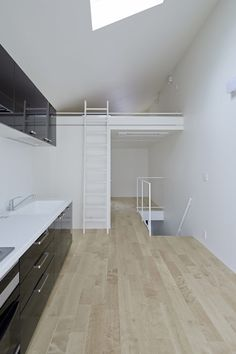 Good idea for a layout in a tiny house. The Japanese architecture firm, Another Apartment, designed this small house on a narrow lot in suburban Tokyo.