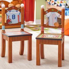 Found it at Wayfair - Lil' Sports Fan Kids' 2 Piece Chair Set
