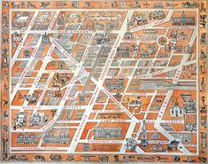 Map of Industrious Shoreditch 2013 _Black_Acrylic: Adam Dant - Soerditch