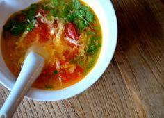 TOMATO EGG DROP SOUP, #tomato #eggdrop #soup