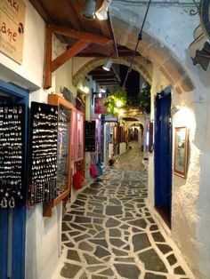 The old market of Naxos capital town