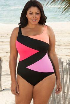 a3848d1ed95a9 Promo plus size swimwear like belle Pink Maui Plus Size Tie Front Halter  Tankini. Exclusive