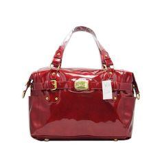 Michael Kors Gansevoort Red Patent Leather Tote Satchel Handbags Hermes