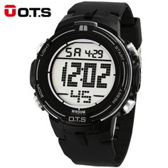 Good price OTS New Running Sport Watches For Men Silicone Electronics LED Watch Men Digital Watches 2017 Militar Men's Watches Stopwatch just only $12.84 with free shipping worldwide  #menwatches Plese click on picture to see our special price for you