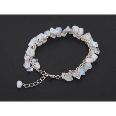 2018 New Stone Bracelet Opalite Bracelet Cluster Opalite Bracelet... ($26) ❤ liked on Polyvore featuring jewelry, bracelets, iridescent crystal jewelry, cluster jewelry, crystal jewellery, crystal bangles and crystal stone jewelry