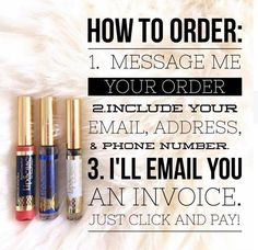 If you saw a color you like this is how you can order! If you order today I'll ship it first thing tomorrow. #LipSense #SeneGence #ordertoday Distributor: 243769 on Facebook: Lavish Lips By Sarah