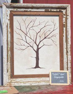 DIY Rustic Tree Escort Card Board