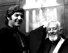 David Prowse and Alec Guinness on the set of ANH