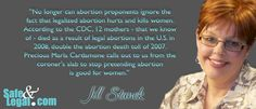 Blogger Jill Stanek comments on Life Dynamics' Safe and Legal project.