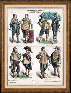 English Costume - Flemish Costume - English Fashion - Military Uniform - Flanders - England - English Soldiers (17th Century - XVIIth Century)