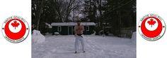 Onge doing Kata in the snow Goju Ryu Karate, Dojo, Snow, Eyes, Let It Snow