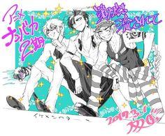 Trois, Honey and Uno (+Jyugo lol) Manga, Nanbaka Anime, Prison Life, Freaking Hilarious, Mermaid Princess, Wattpad, Bishounen, Anime Shows, Queen