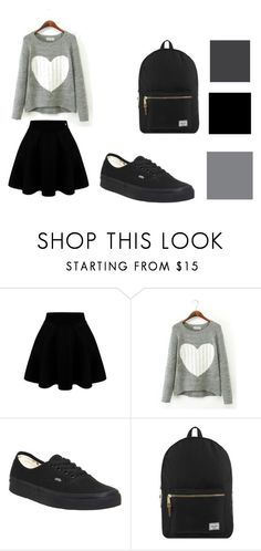 love by lady-irakaramel on Polyvore featuring Vans, Herschel Supply Co., women's clothing, women's fashion, women, female, woman, misses and juniors
