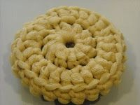 Crocheted scrubbie made with tulle