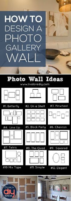 How to design a photo gallery wall the correct way.