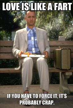 Forrest Gump on love Pinned From Junglegag - Click for more!