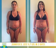 """Jennifer D. lost 4.7 lbs in 3 days with the 3-Day Refresh!    """"I liked the Vanilla Fresh shake! It has a nice, light flavor and I drank it blended with fruit and ice and sometimes just ice and cinnamon. I had been off track from my healthy eating and this got me right back on track!"""""""