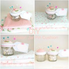 Diy Mason Jars : Diy Mason Jar Pin Cushion