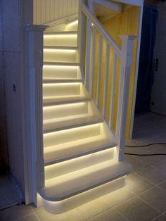 Slik monterer du LED-lys i trappen - Oppussing.org