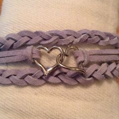 Periwinkle Double Heart by BeccasjamsandCrafts on Etsy