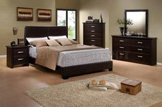 4 Pieces include the dresser, mirror, 1 night stand and queen bed. Item Description Dimension King Bed/Rails HB: Queen Bed/Rails HB: Full Bed/Rails HB: Twin Bed/Rails HB: Nightstand 22 x 17 x Dresser 59 x 17 x Mirror 35 x 40 Chest 36 x 17 x Down Comforter, Queen Comforter Sets, Duvet Sets, Queen Bed Rails, Queen Beds, Upholstered Bedroom Set, Queen Size Bed Sets, Home Furniture, Furniture Design