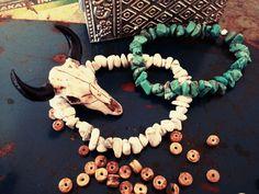 Bracelet bohème pierre turquoise