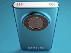 design inspiration in chameo-design.com I trend research I blue metallic cell phone camera samsung alu anodized