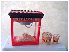 Miniature Dollhouse Food Shop Series Pop Corn | eBay