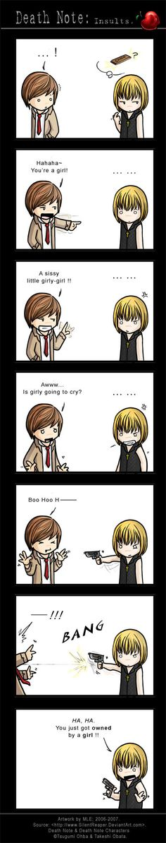 Death Note: Insults by SilentReaper.deviantart.com on @deviantART<<<< Uh............Mello.......nevermind.........