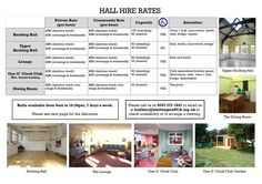 Whittington Park Community Centre £30 quid an hour, but 10%discount for 3 or more hours