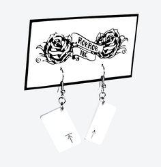 RokRokInc. handm.ade upcycled jewellery, recycling DIY keypad earrings.