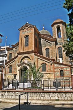 Agios Ioannis Chrysostomos is a beautiful 1907 church. Thessaloniki, The Locals, The Neighbourhood, Greek, Walking, Mansions, House Styles, City, Building