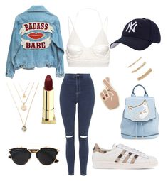 """""""patche and pins baby"""" by fashionlandfb ❤ liked on Polyvore featuring Georgia Perry, adidas Originals, rag & bone, Topshop, Balenciaga, Hartford, Des Petits Hauts, Lipstick Queen, Christian Dior and Forever 21"""