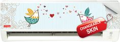 """Wall Mounted N Series with """"Love Birds"""" Skin"""