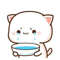 Brb just collecting ma tears Cute Love Pictures, Cute Love Gif, Cute Cat Gif, Cute Images, Cute Cartoon Pictures, Cute Couple Cartoon, Cute Love Cartoons, Gif Lindos, Memes Lindos