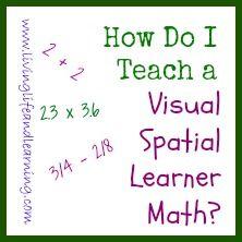 How do I Teach My Visual Learner Spatial Learner Math? #homeschool