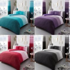 Urban Ombre Luxury Duvet Covers Quilt Covers Reversible Bedding Sets All Sizes  | eBay