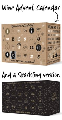 Wine or Prosecco Advent Calendars! Yes please!!
