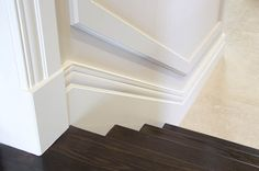 Staircase in a Hampton style home using Intrim Group Skirtings, Architraves & Chair Rails.