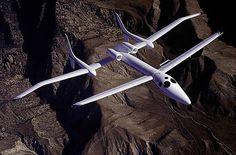 The Proteus Aircraft of Burt Rutan on early morning test flight. | Aviation