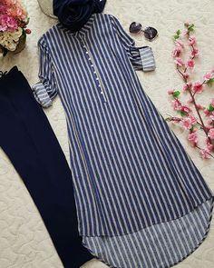 Best Trendy Outfits Part 21 Simple Kurti Designs, Kurta Designs Women, Blouse Designs, Salwar Designs, Modest Dresses, Stylish Dresses, Fashion Dresses, Fashion Clothes, Trendy Outfits