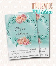 Tarjeta de 15 - Invitación de quince acuarela para imprimir - comprar online