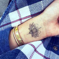 Tattoos on Wrist Lotus Flower